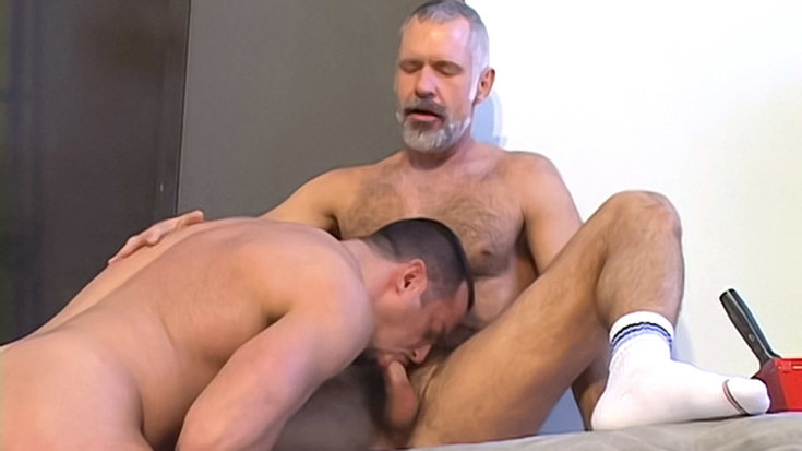 Getting Some Blue Collar Daddy Cock