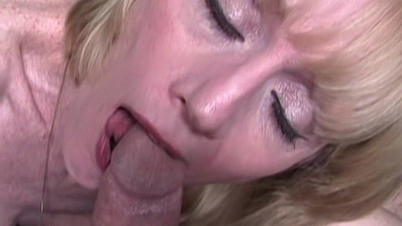 Stunt Cock Shoots A Sticky Load Into Melanie's Mouth
