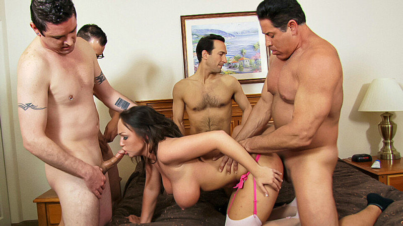 Chloe Gets A Gang Bang Surprise!